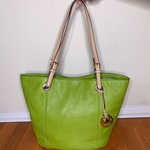 Michael Kors leather summer tote